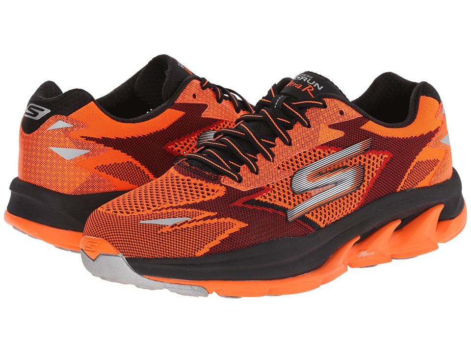 SKECHERS - Go Run Ultra - Road (Orange/Black) Men's Running Shoes
