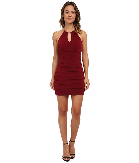 Gabriella Rocha - Choker Necklace Banded Dress (Wine) Women's Dress