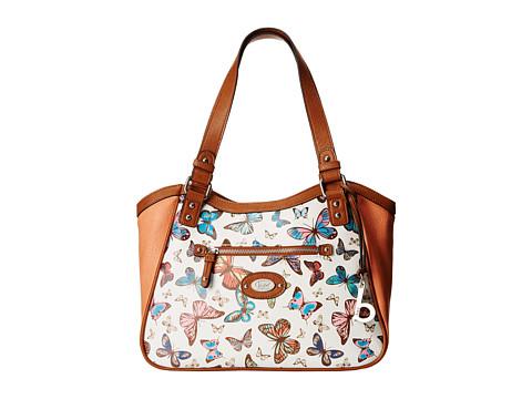 b.o.c. - Jardines Printed Butterfly Tote (Coral) Tote Handbags