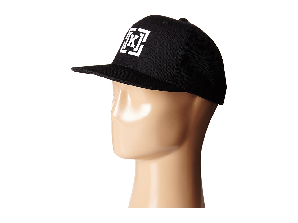 KR3W - Bracket Snap Hat (Black/White) Caps