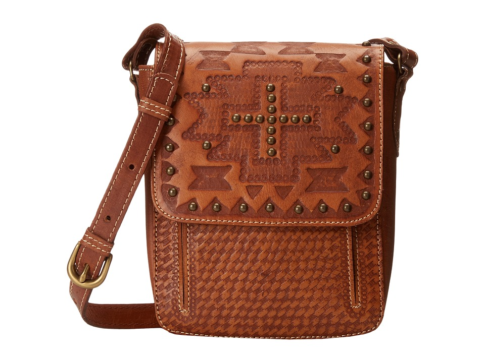 American West - Apache Crossbody Flap Bag (Golden Tan) Cross Body Handbags