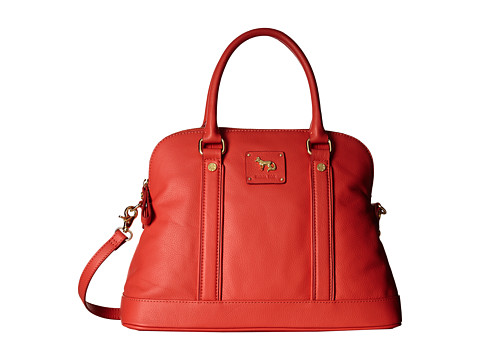Emma Fox - Hampstead Dome Satchel (Chili) Satchel Handbags