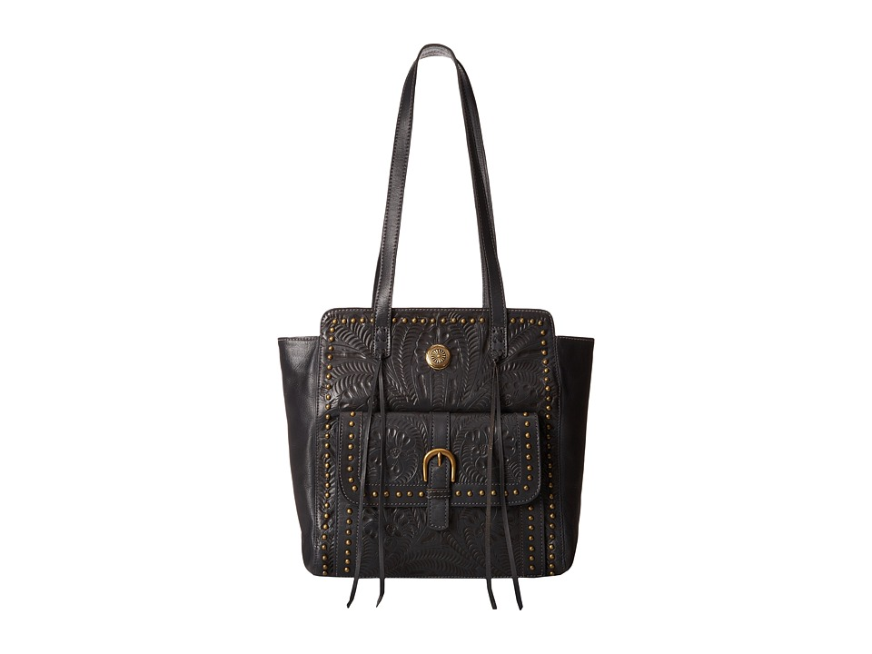 American West - Shane Zip Top Tote (Steel Blue) Tote Handbags