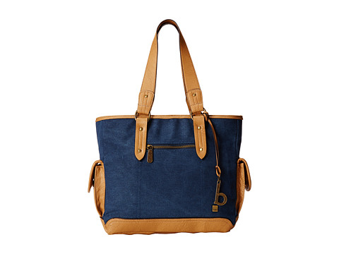 b.o.c. - Lemoor Canvas East/West Shop Tote (Marine) Tote Handbags
