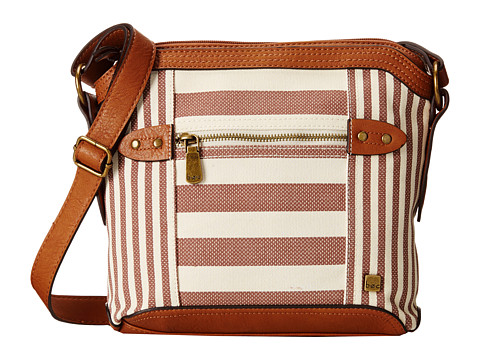 b.o.c. - Lemoor Canvas Round Crossbody (Cocoa Stripe) Cross Body Handbags