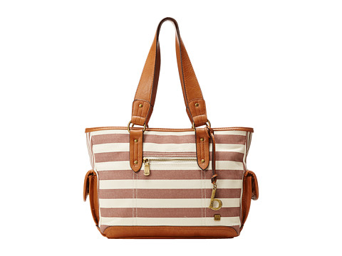 b.o.c. - Lemoor Canvas East/West Shop Tote (Cocoa Stripe) Tote Handbags