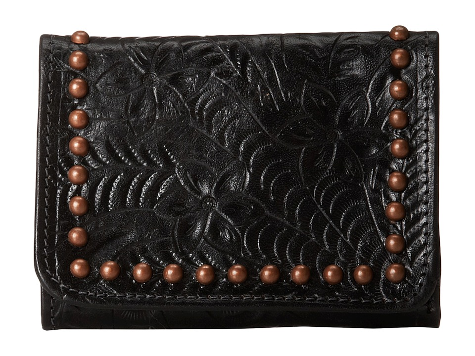 American West - Shane Tri-Fold French Wallet (Black) Wallet Handbags