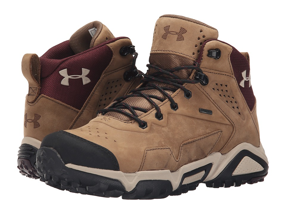 Under Armour - UA Tabor Ridge Leather (Uniform/Ox Blood/Highland Bluff) Women's Hiking Boots