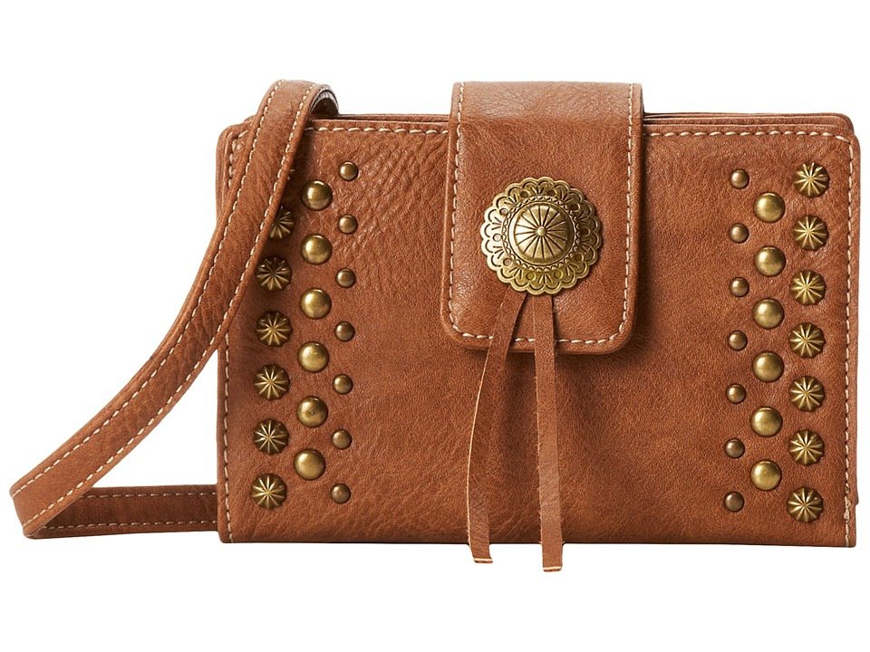 American West - Game Girl Stadium Crossbody (Tan) Cross Body Handbags