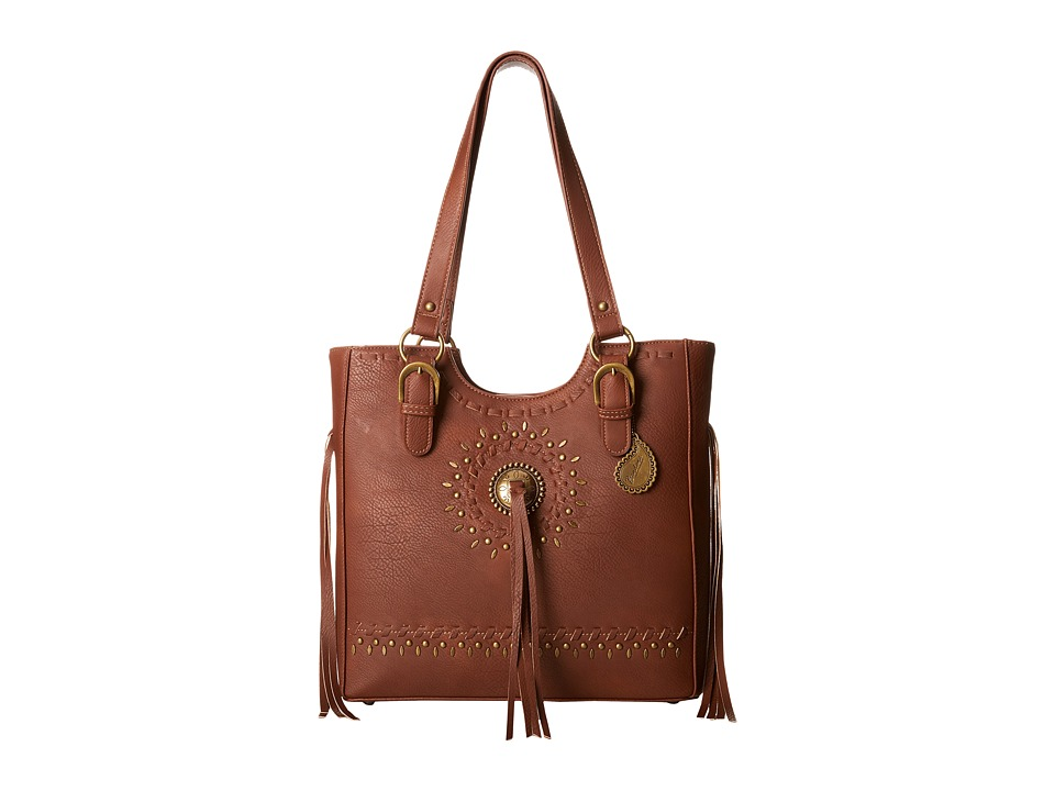 American West - Sioux 3-Compartment Tote (Tan) Tote Handbags