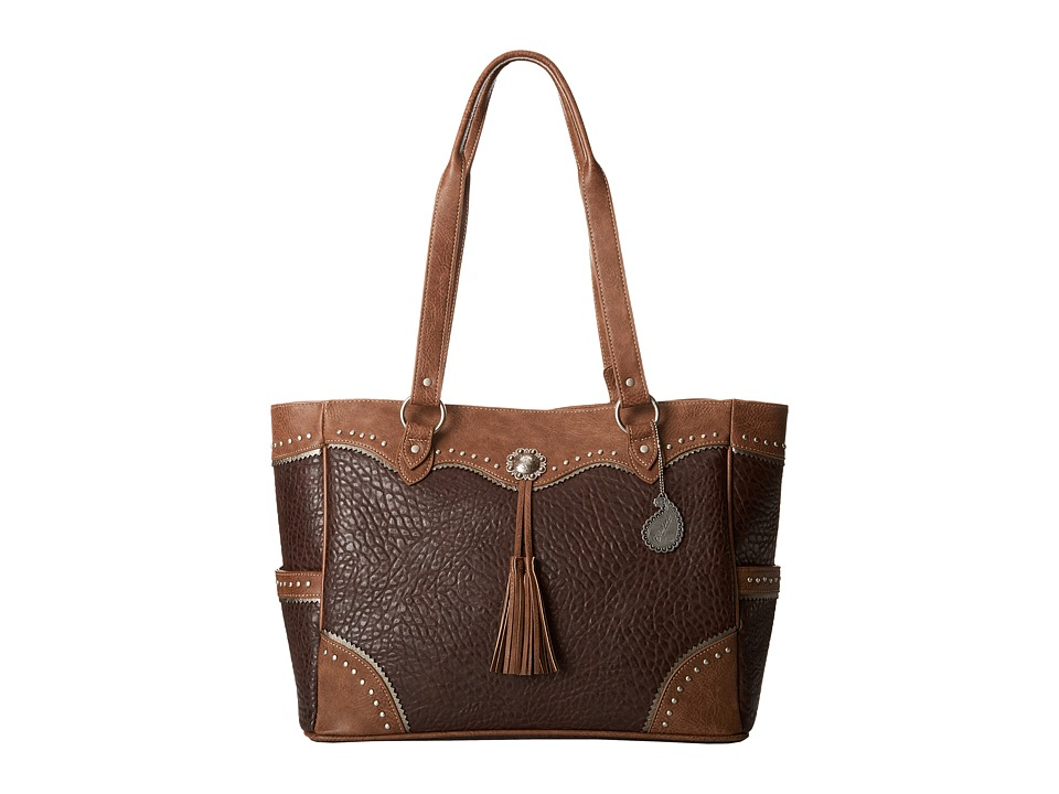 Image of American West - Brecken Ridge Carry On Tote (Chocolate/Latte) Tote Handbags