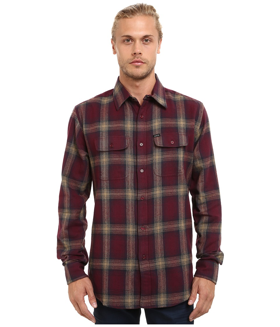 Matix Clothing Company - Parker Flannel (Ox Blood) Men's Clothing