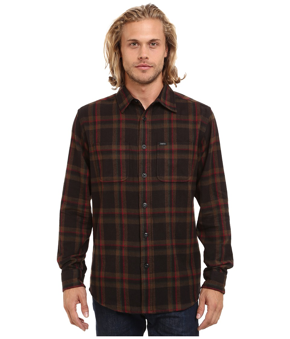 Matix Clothing Company - Lincoln Flannel (Black) Men's Clothing