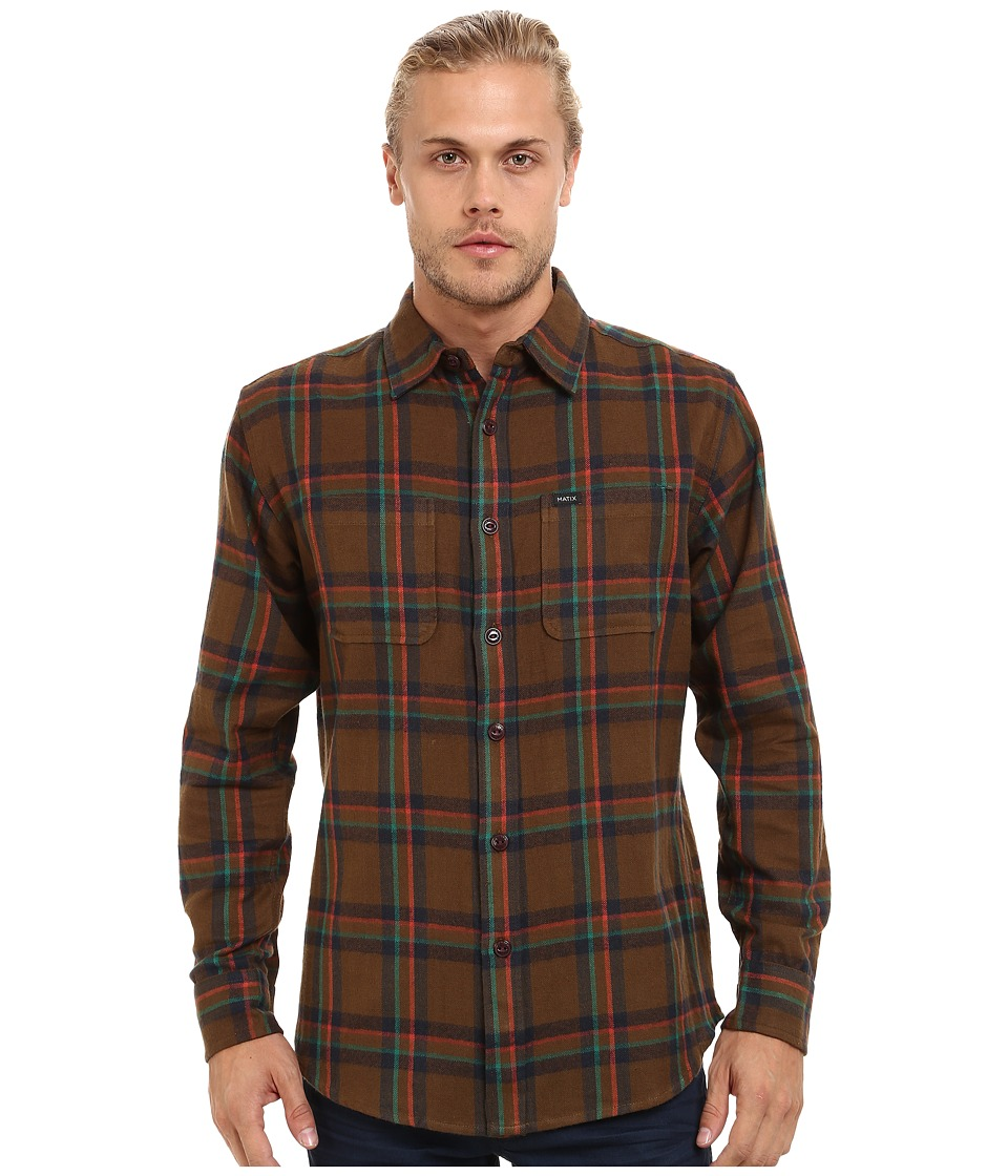 Matix Clothing Company - Lincoln Flannel (Tobacco) Men's Clothing
