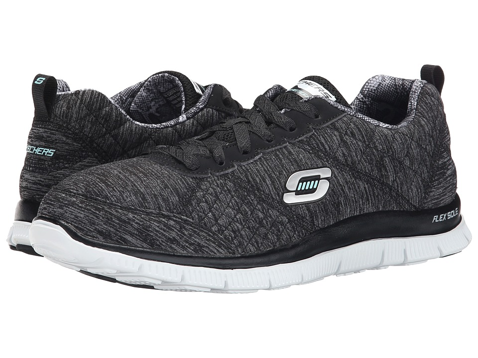 SKECHERS - Flex Appeal - Pretty City (Black White) Women