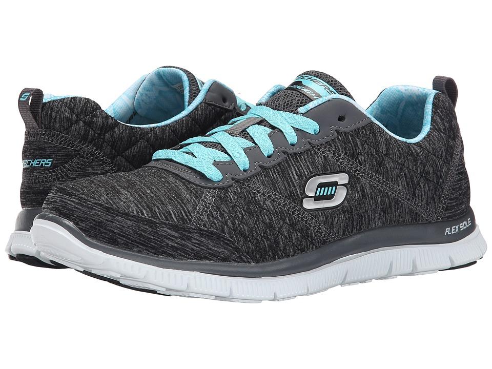 SKECHERS - Flex Appeal - Pretty City (Black Blue) Women's Shoes