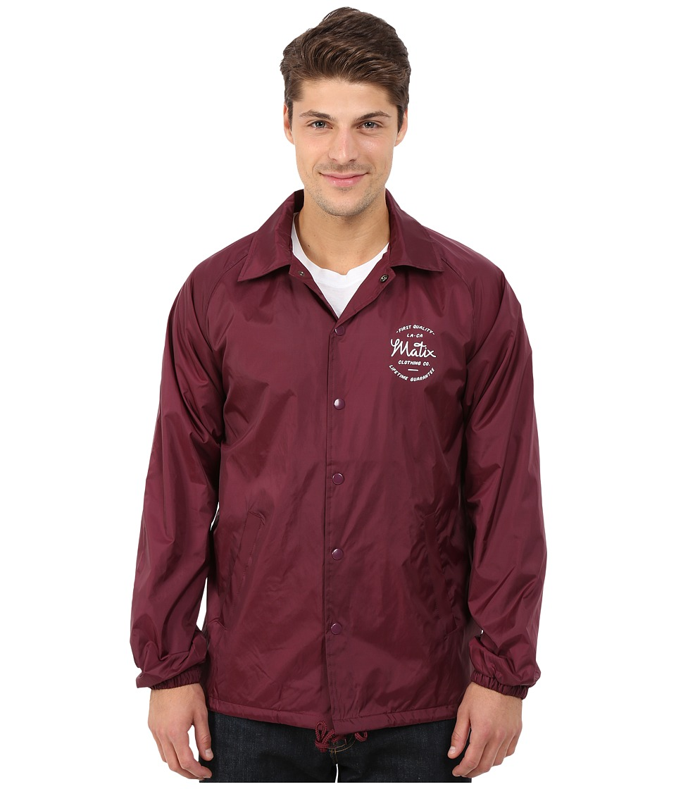 Matix Clothing Company - League Jacket (Ox Blood) Men's Coat