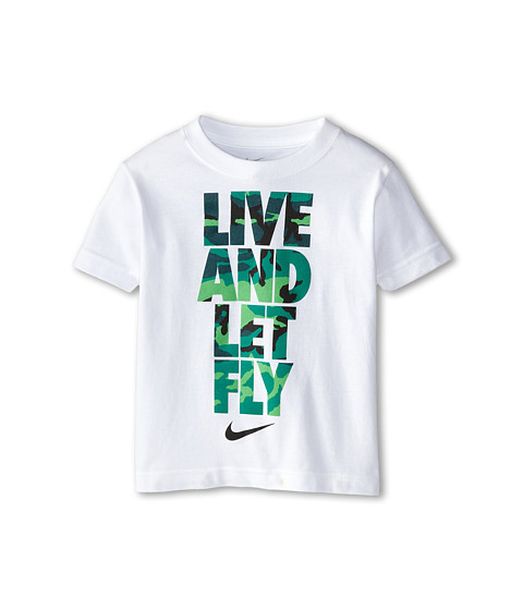 Nike Kids - Live and Let Fly Short Sleeve Tee (Toddler) (White) Boy