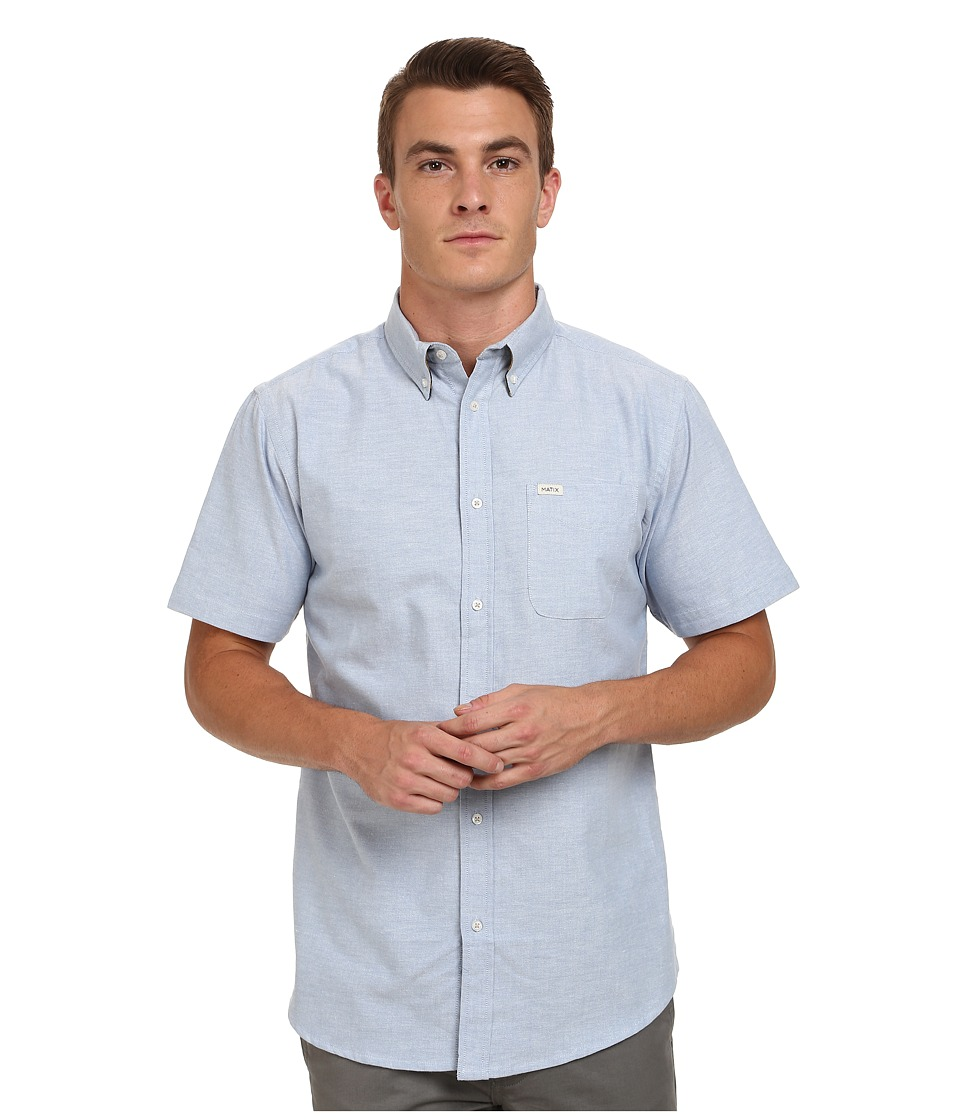 Matix Clothing Company - Tom Oxford Short Sleeve Woven Top (Workblue) Men's Short Sleeve Button Up