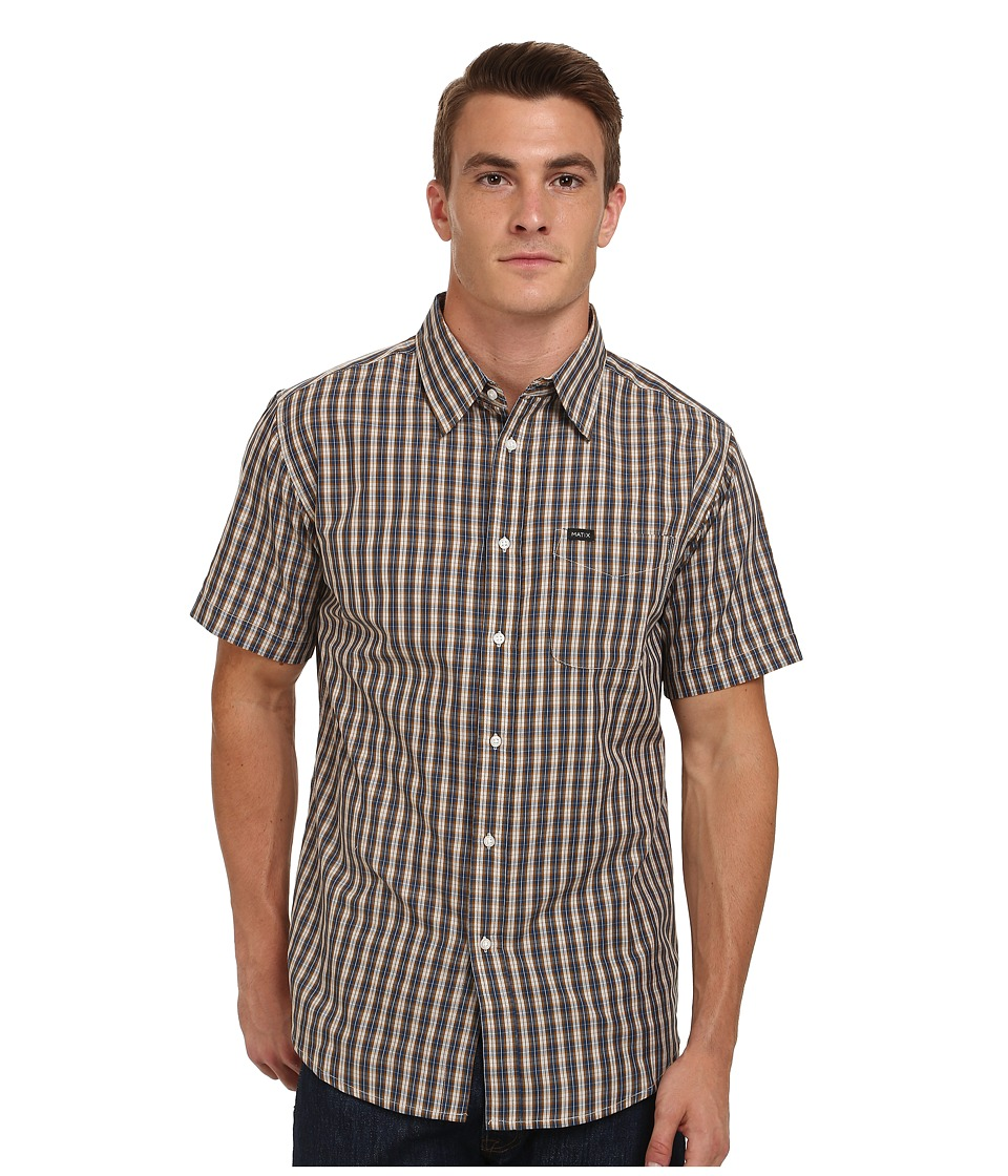 Matix Clothing Company - Strata Short Sleeve Woven Top (Grey) Men's Short Sleeve Button Up
