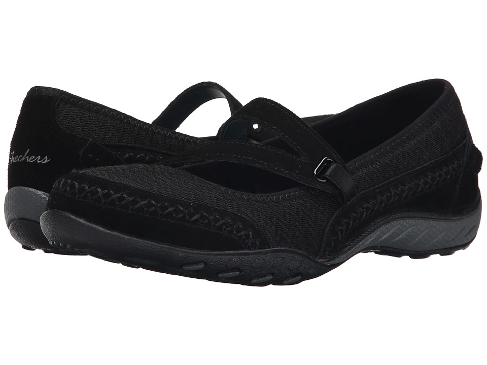 SKECHERS - Breathe-Easy - Lovestory (Black) Women's Shoes