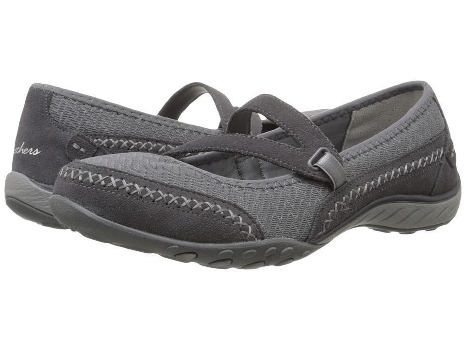 SKECHERS - Breathe-Easy - Lovestory (Charcoal) Women's Shoes