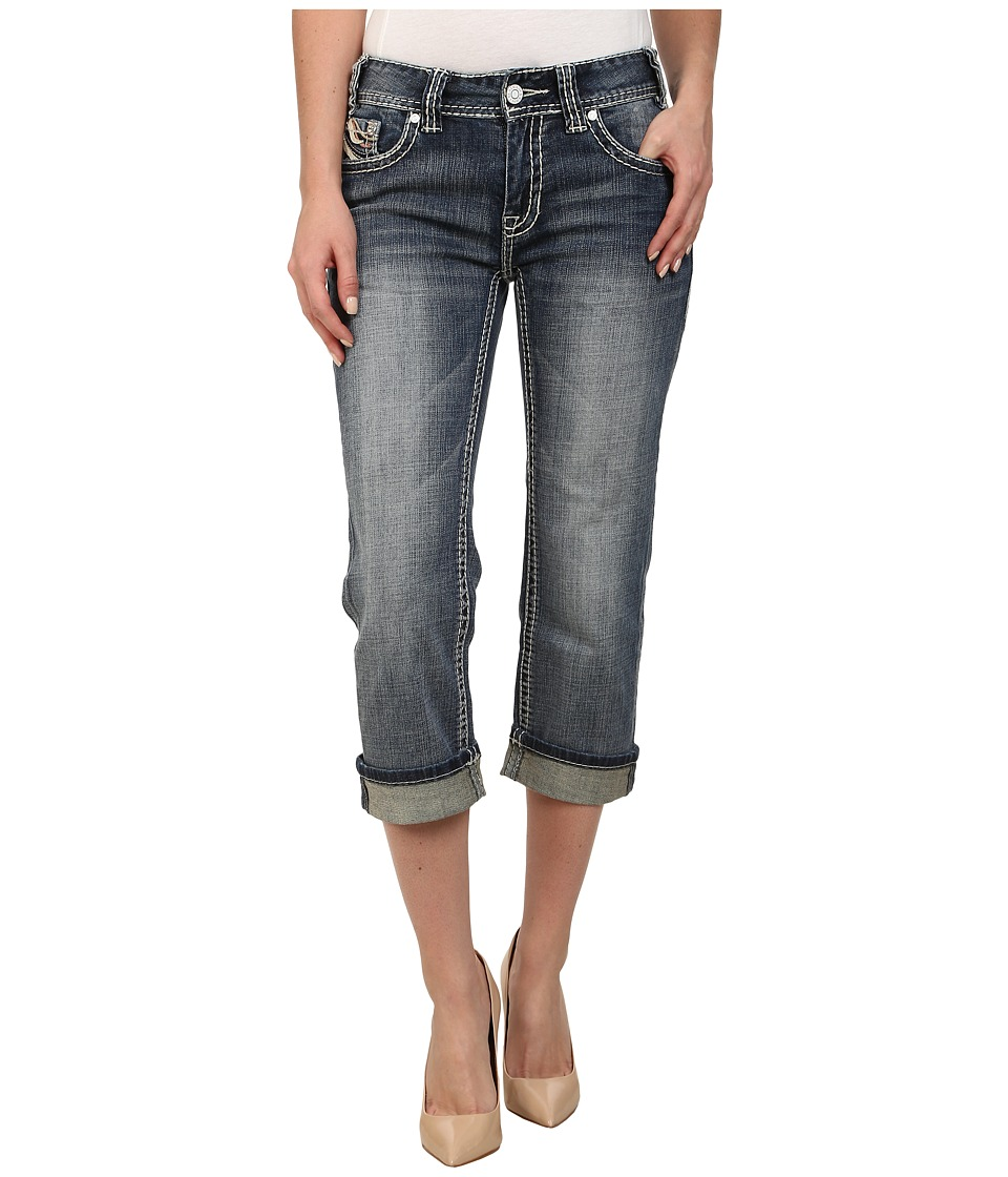 Rock and Roll Cowgirl - Mid Rise Crop in Light Vintage W4-2485 (Light Vintage) Women's Jeans