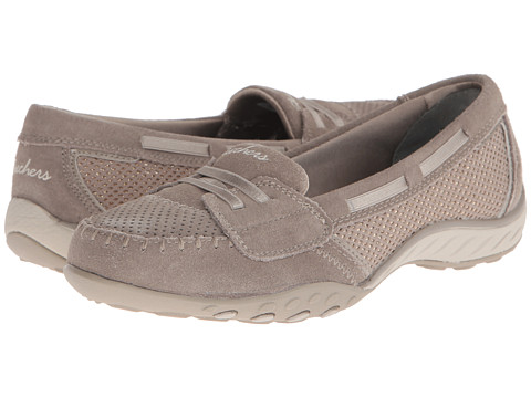 SKECHERS - Breathe-Easy - High-Seas (Taupe) Women's Slip on Shoes