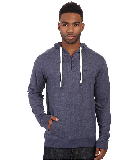 Matix Clothing Company - World Henley Knit (Blue Heather) Men's Sweatshirt