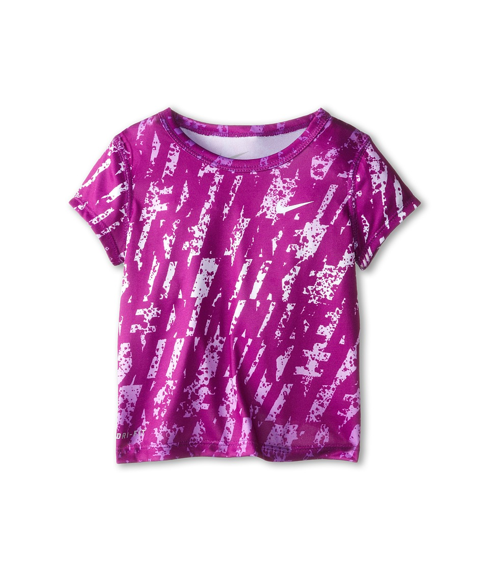 Nike Kids - Lightweight Dri Fit Aop GFX Short Sleeve Top (Toddler) (Bold Berry) Girl's T Shirt