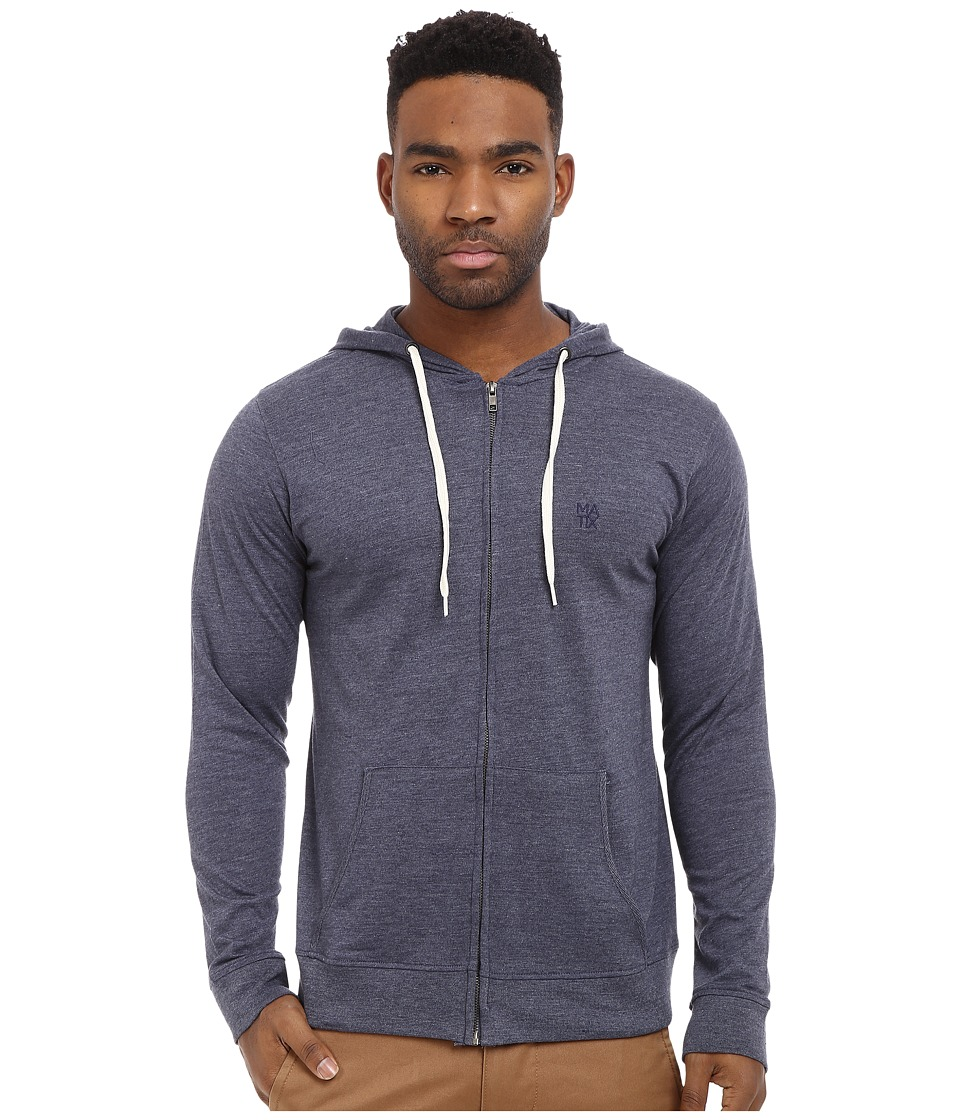 Matix Clothing Company - World Zip Knit (Blue Heather) Men's Clothing