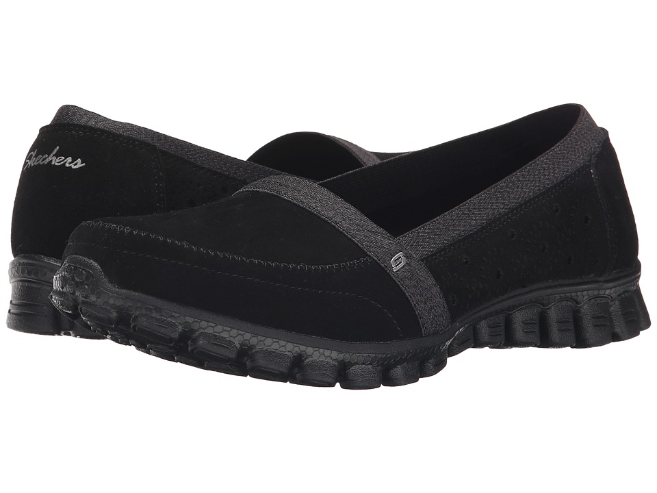 SKECHERS - EZ Flex 2 - Bed-Of-Roses (Black) Women's Slip on Shoes