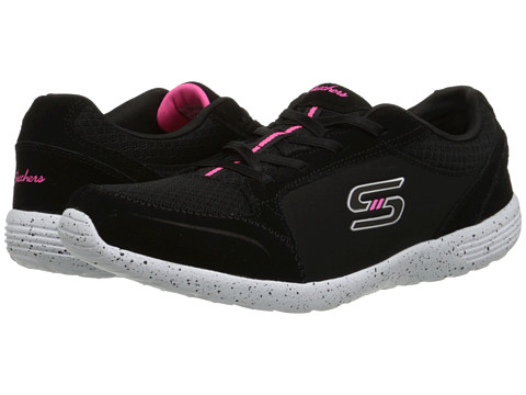 SKECHERS - Stardust - In-The-Groove (Black White) Women's Shoes