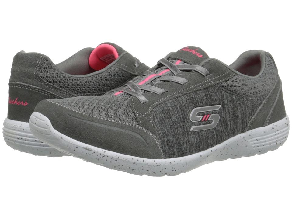 SKECHERS - Stardust - In-The-Groove (Gray) Women's Shoes