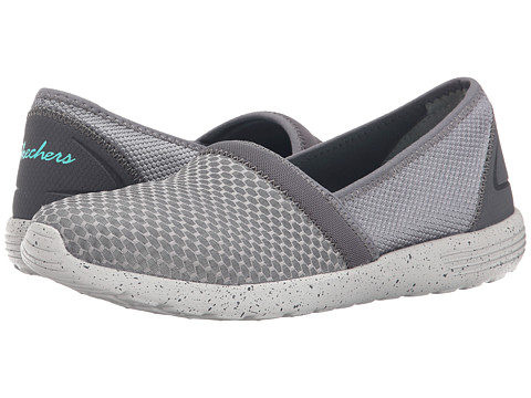 SKECHERS - Stardust - Sure Bet (Gray) Women's Slip on Shoes
