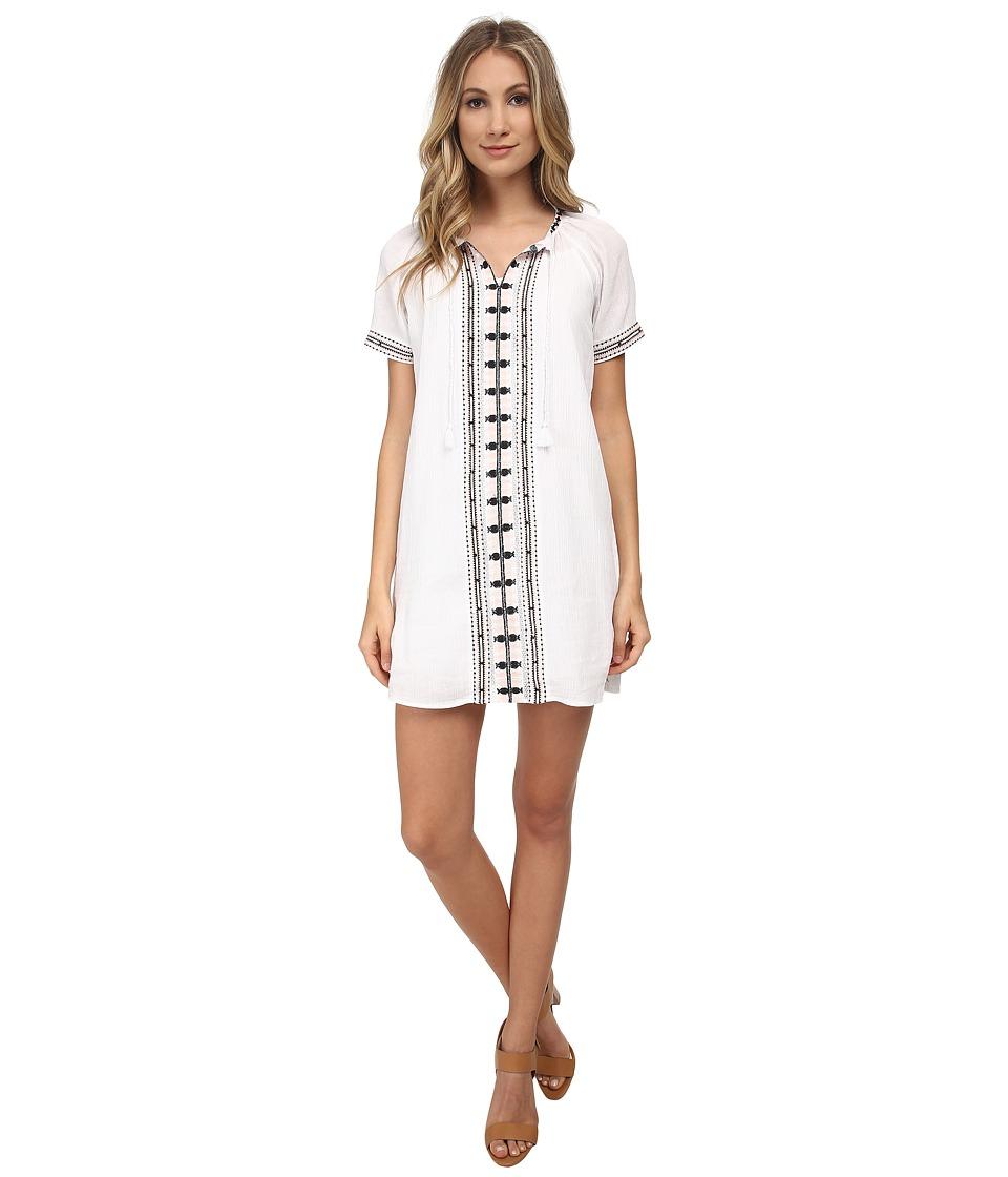 Maison Scotch - Summer Kaftan Dress w/ Colourful Embroidery Details (White) Women's Dress