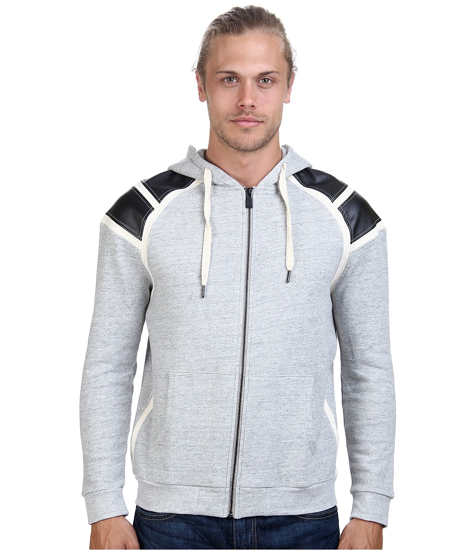 Eleven Paris - Gree Zip Sweatshirt (Grey Chine) Men