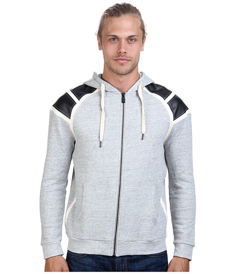 Eleven Paris - Gree Zip Sweatshirt (Grey Chine) Men's Sweatshirt