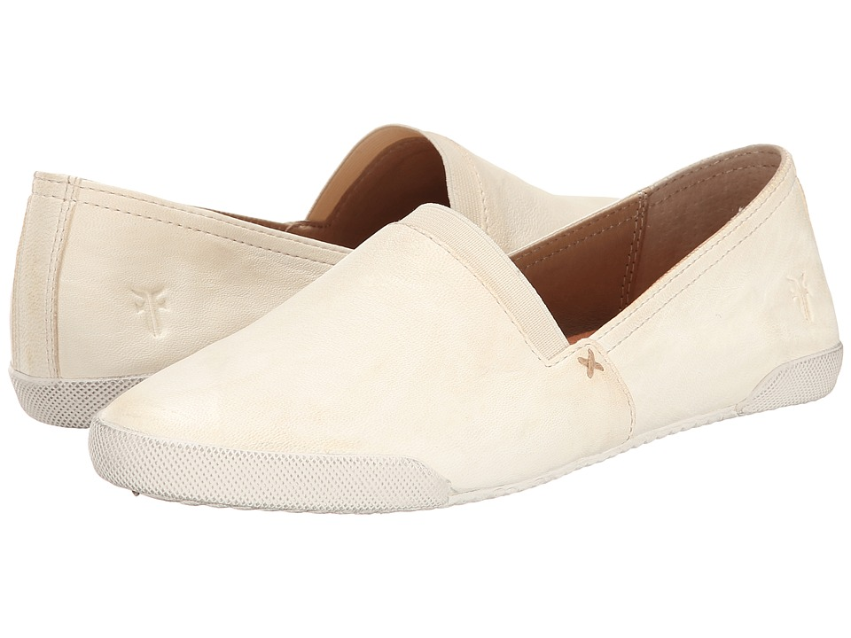 Frye - Melanie Slip On (White) Women's Slip on Shoes