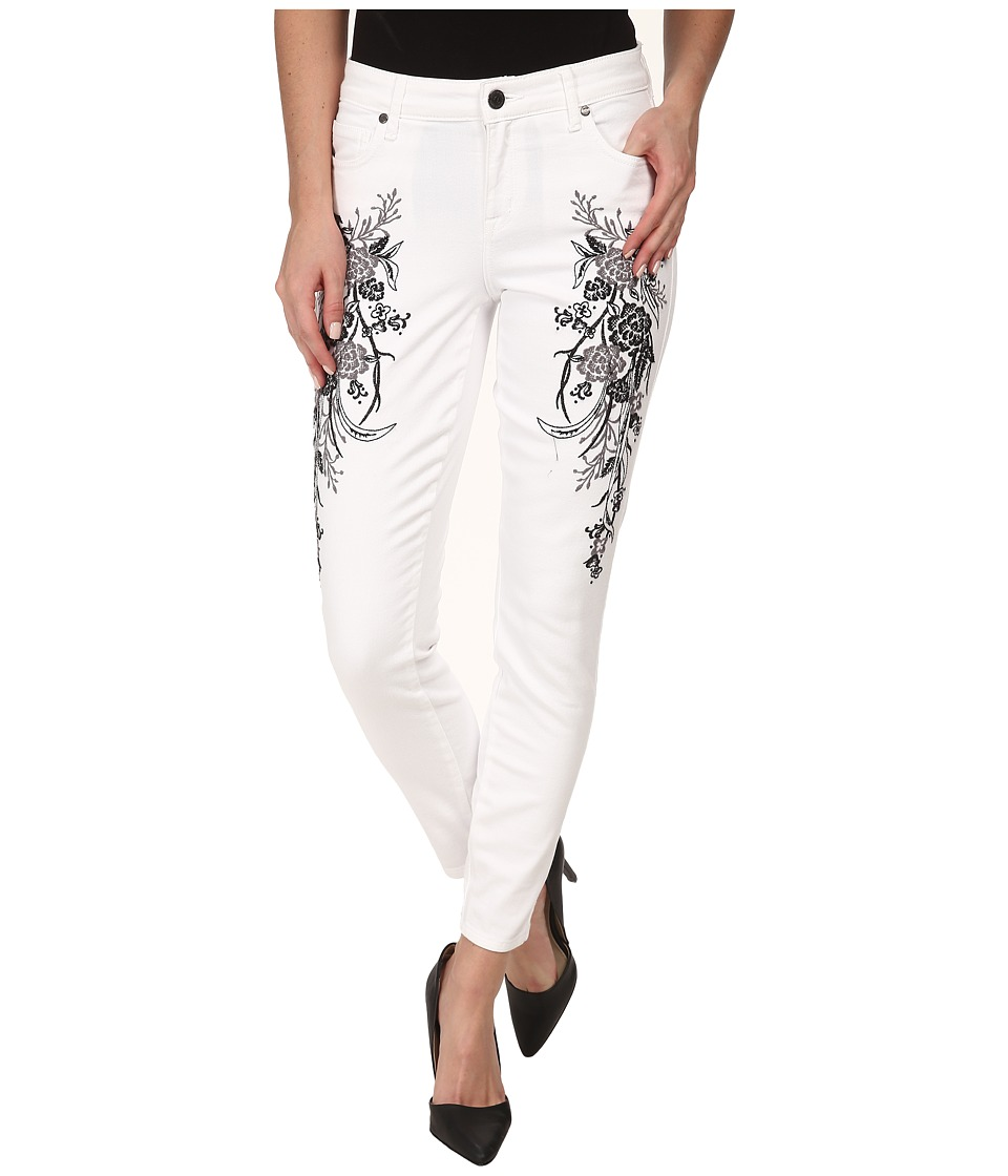 CJ by Cookie Johnson Wisdom Ankle Skinny w/ Floral Embroidery in Optic White (Optic White) Women