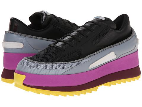adidas by Raf Simons - Raf Simons Platform Lace (Core Black/Light Grey/Flash Pink) Men