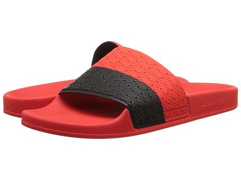 adidas by Raf Simons - Raf Simons Two-Tone Adilette (Bold Orange/Core Black) Men