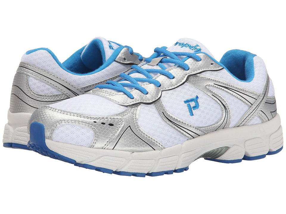 Propet - XV550 (White/Royal Blue) Men's Flat Shoes