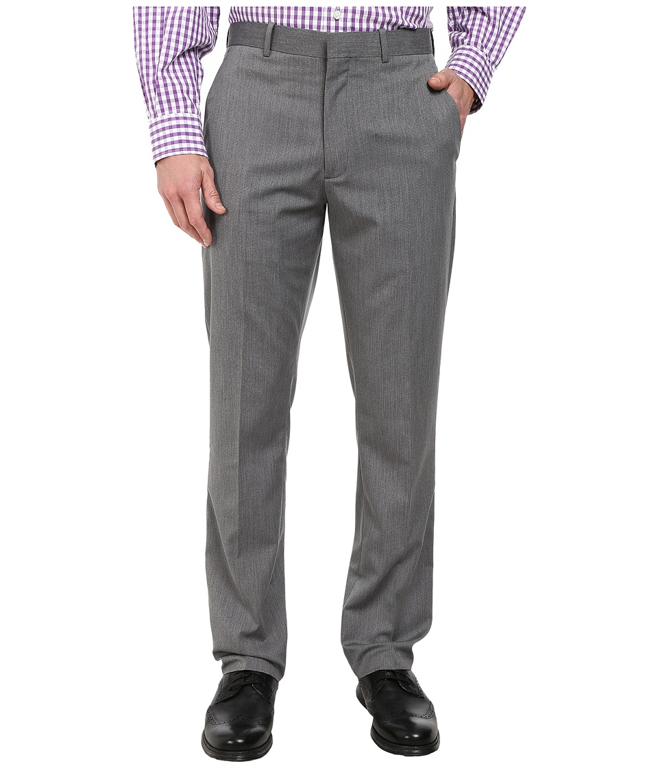 Perry Ellis Portfolio - Slim Fit End on End Pants (Charcoal) Men's Casual Pants
