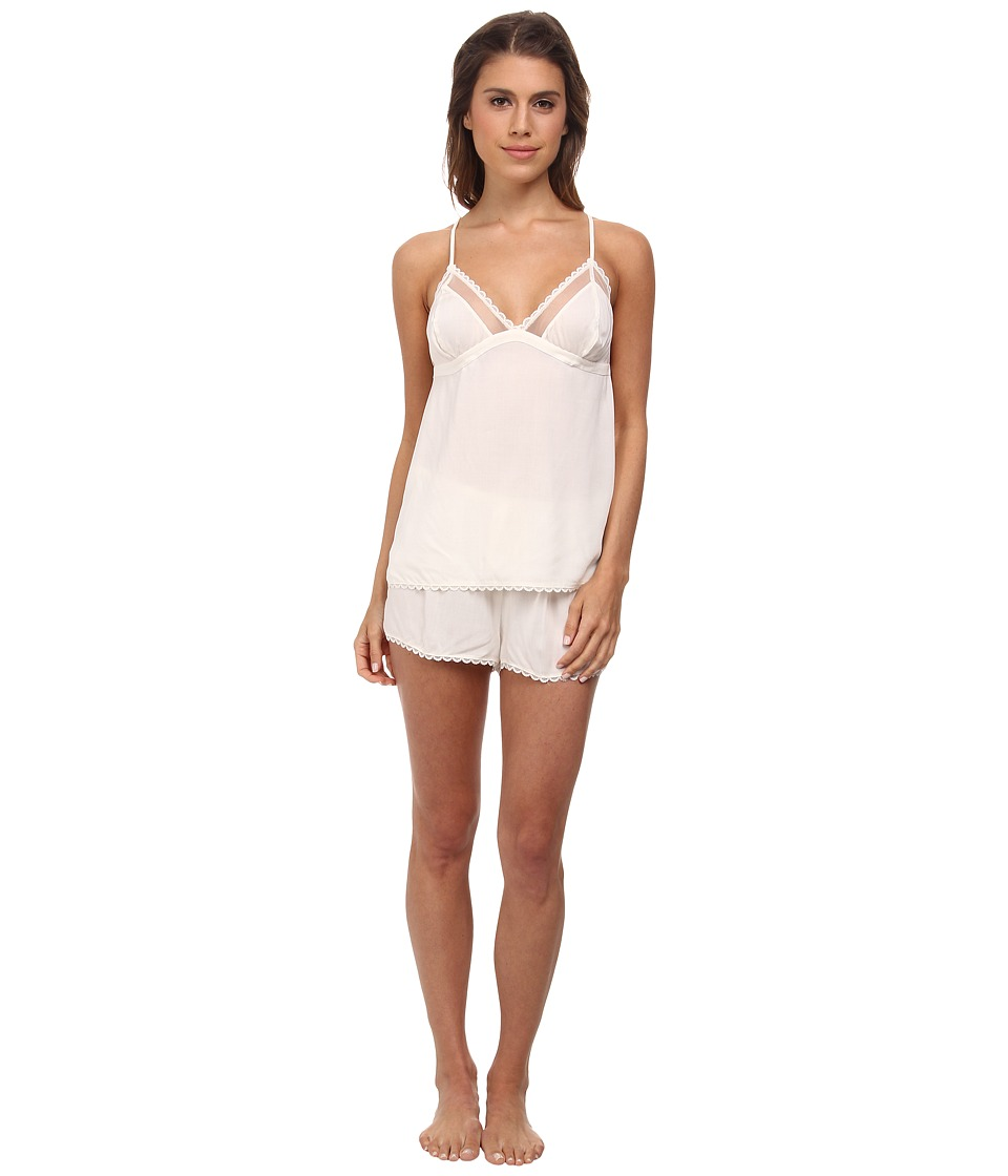 Calvin Klein Underwear - Cami Sleep Shorts Set (Ivory) Women's Pajama Sets