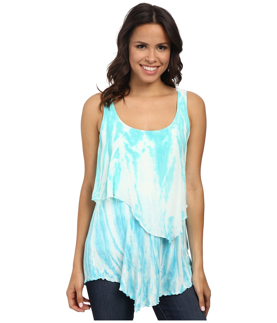 Miraclebody Jeans - Tanya Layered Tank Top w/ Body-Shaping Inner Shell (Pool) Women's Sleeveless