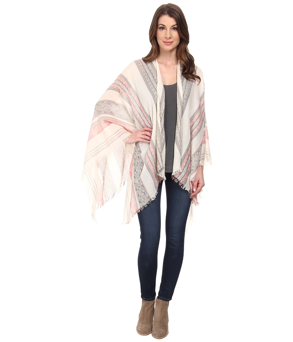 BCBGMAXAZRIA - Aztec Shawl (Red) Scarves