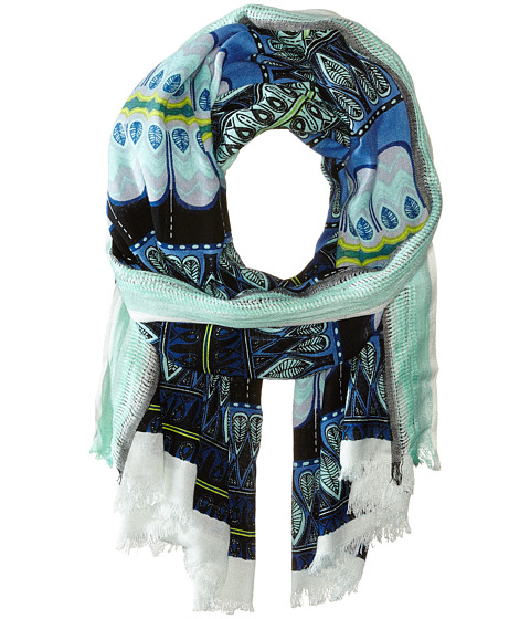 BCBGMAXAZRIA - East Meets West Wrap (Light Chambray) Scarves