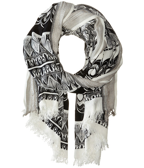 BCBGMAXAZRIA - East Meets West Wrap (Black) Scarves