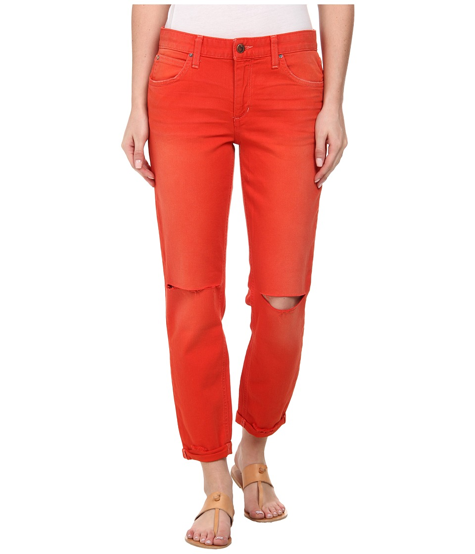 Joe's Jeans - Collector's Edition Boyfriend Slim Crop in Distressed Colors (Poppy) Women's Jeans